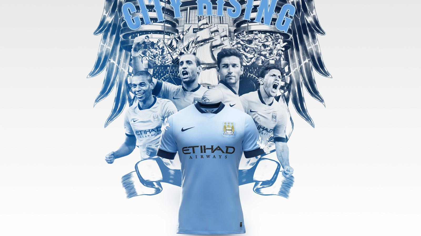 Nike Manchester City Maillot Domicile 2016 17 Junior