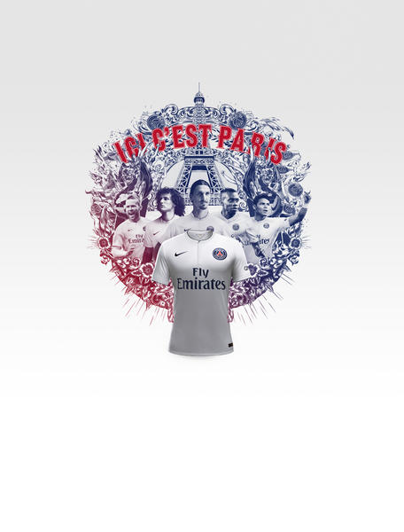 Nike and Paris Saint-Germain Unveil New Away Kit for 2014-15 Season