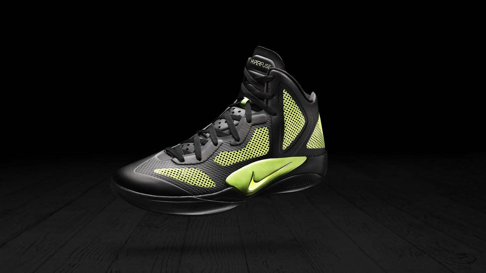 Nike Zoom Hyperfuse Black Volt Sample