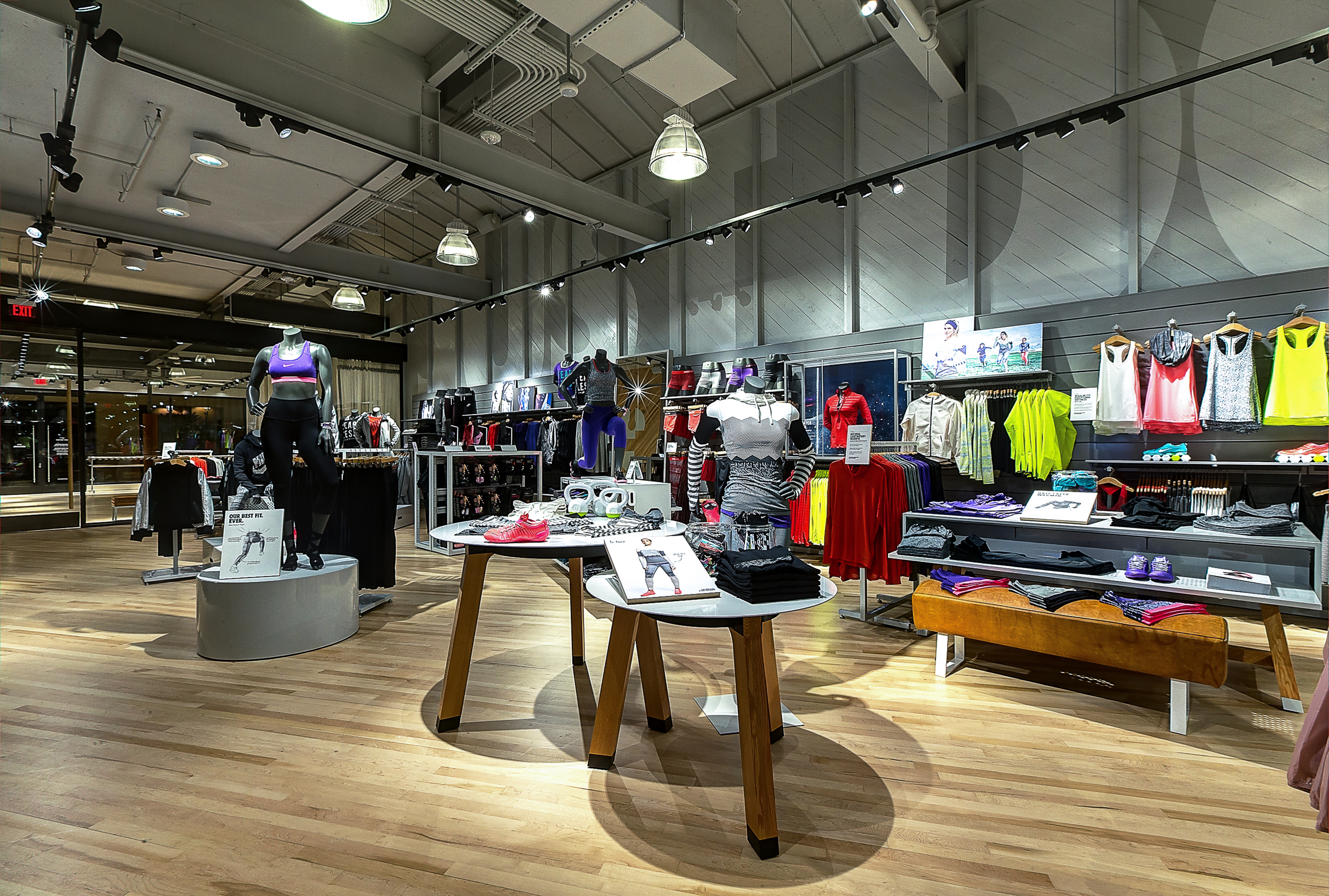 nike news nike women s only store with fitness studio opens in