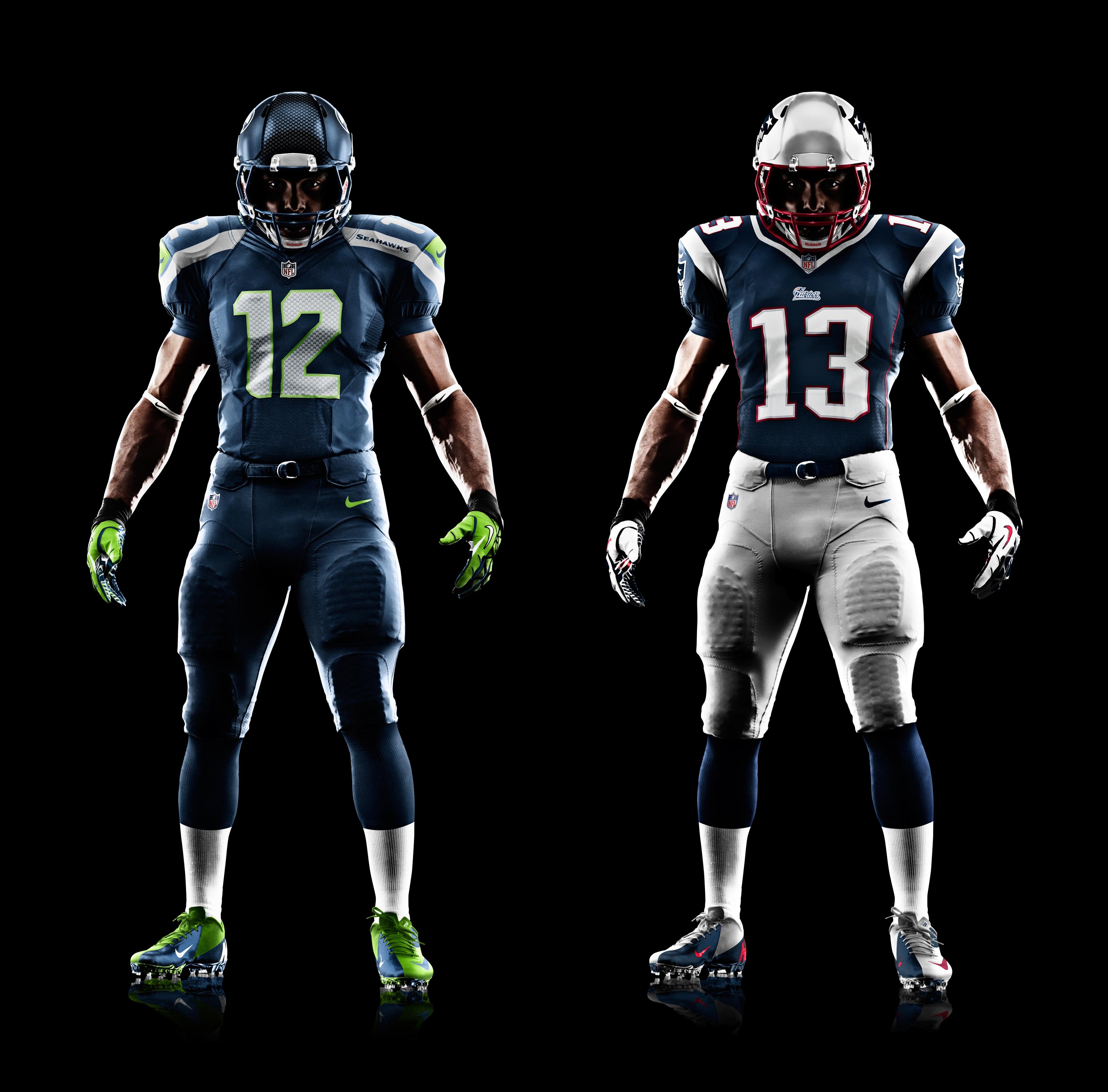 Nike Seahawks #90 Jarran Reed White/Steel Blue Men's Stitched NFL Elite Split Jersey