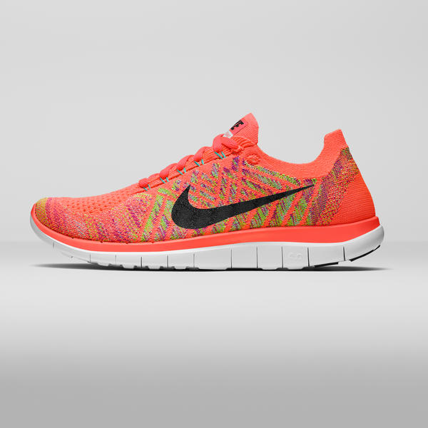 mens nike free flyknit 4.0 pink red