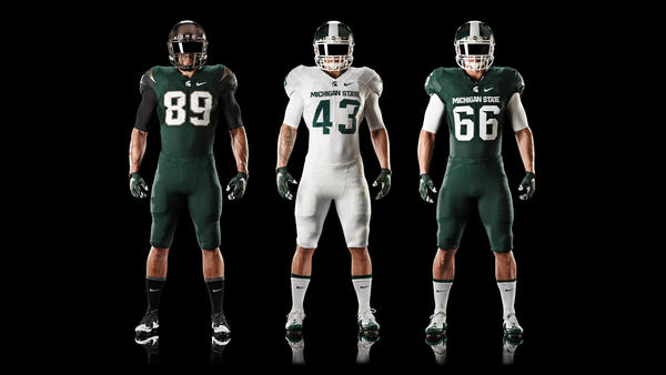 Michigan State Football Updates Nike Uniform Design