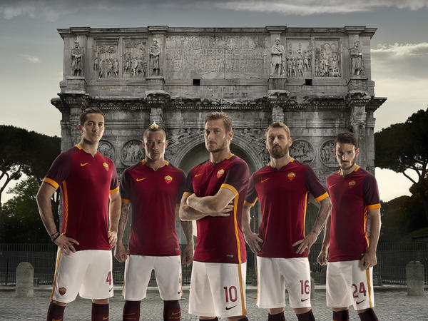 AS Roma's Ambition and History Come to Life in Nike Home Kit for 2015-16