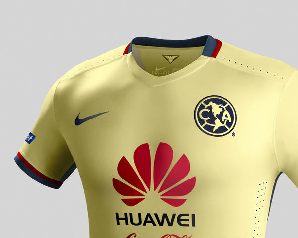 Club América Home and Away Kits for 2015-16
