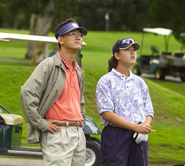 Photo of Michelle Wie & her Father  Byung-wook Wie