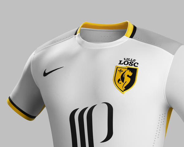 Traditional 2015-16 Away Kit for Lille OSC Inspired by Local Heritage