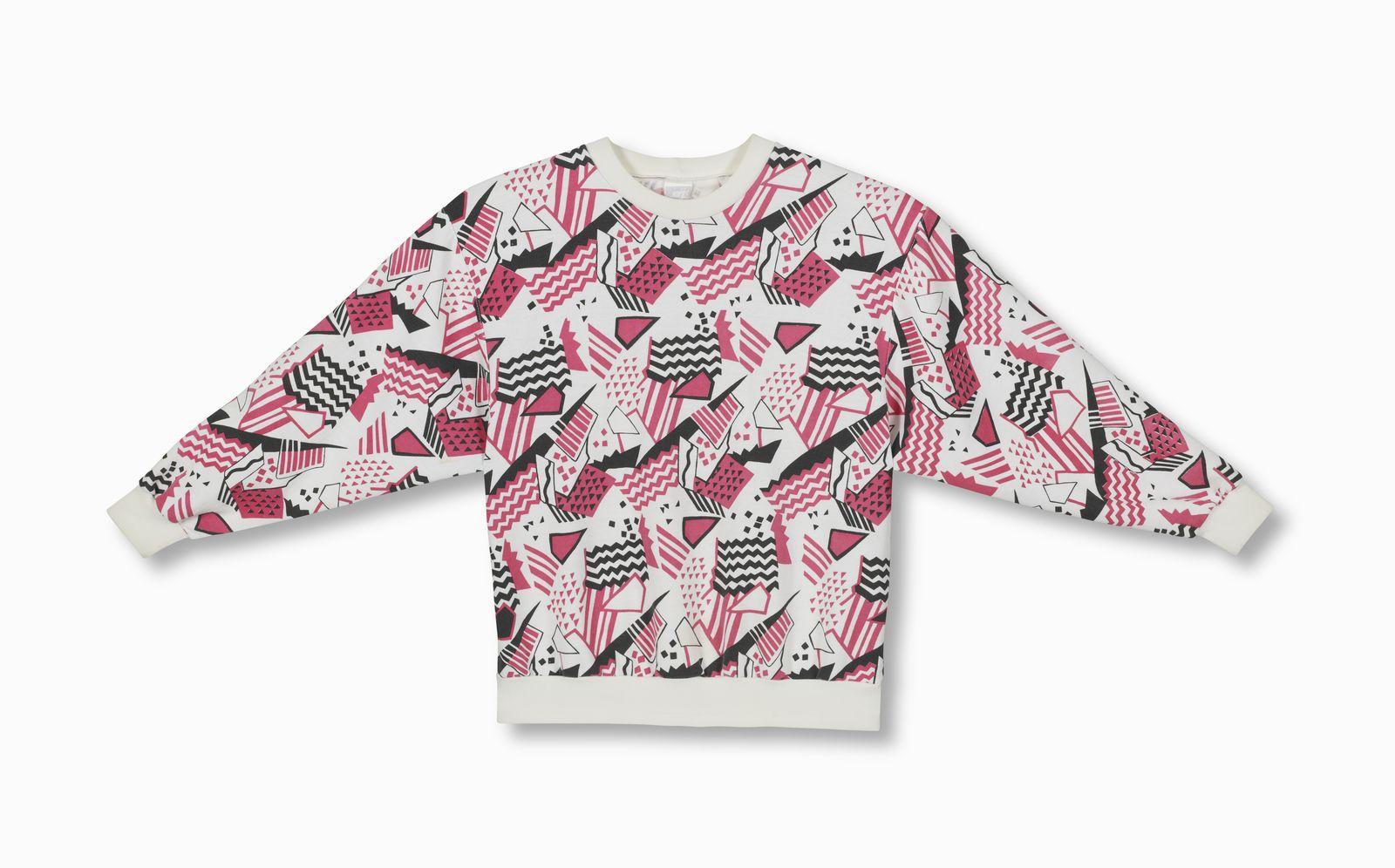 Shirt design history - 1987 Print Fleece Crew