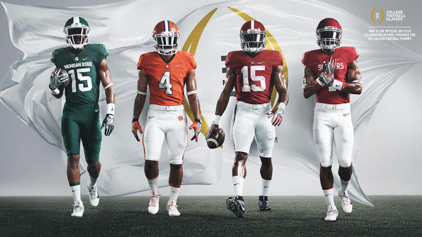 Nike Reveals College Football Playoff Uniform Looks