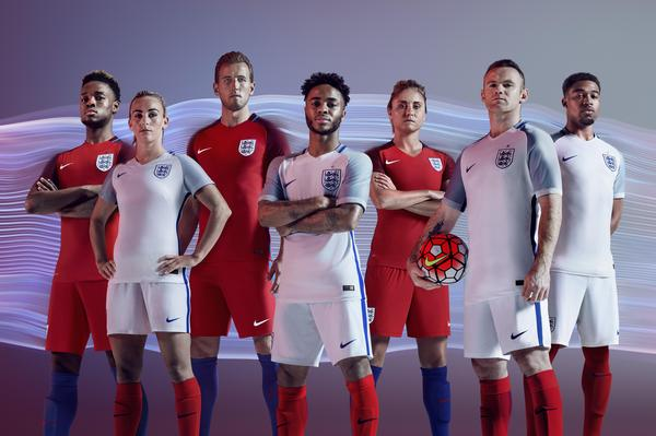 England 2016 National Men and Women's Football Kits
