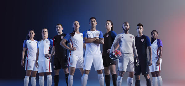 USA 2016 National Men and Women's Soccer Kits