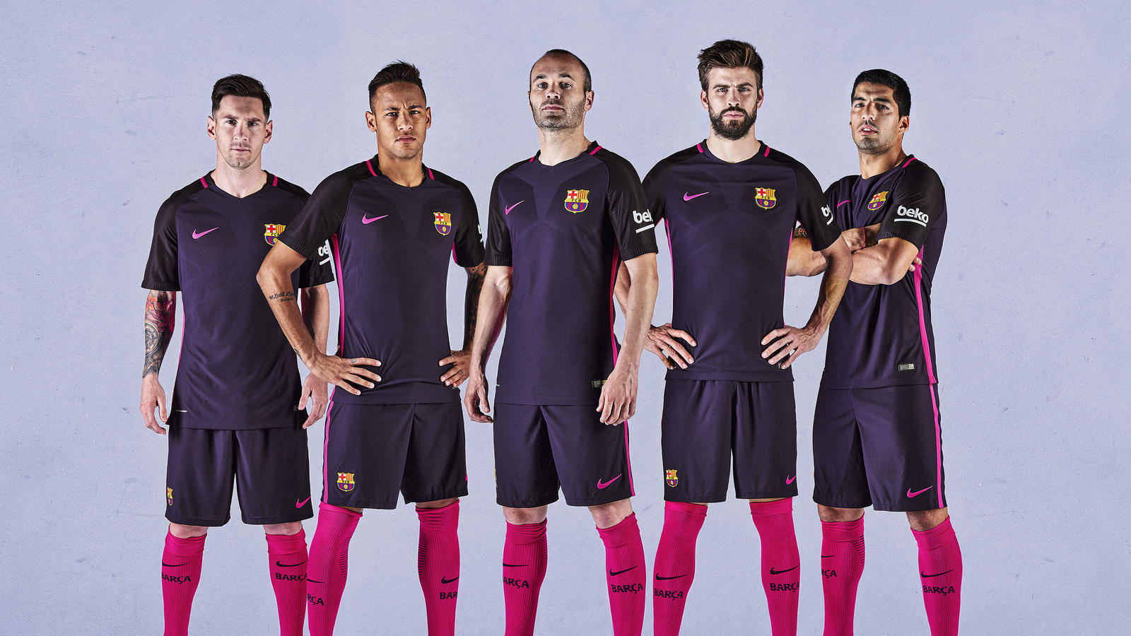 Fc barcelona away kit 2016 17 nike news for Fc barcelone maillot exterieur