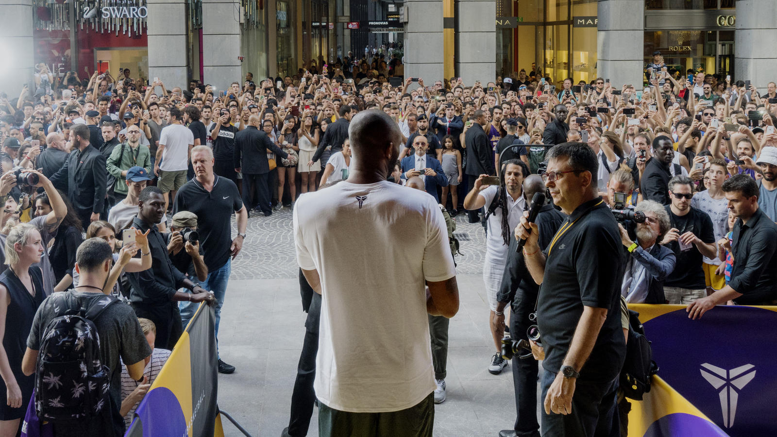 Kobe Bryant Visits Europe to Inspire the Next Generation