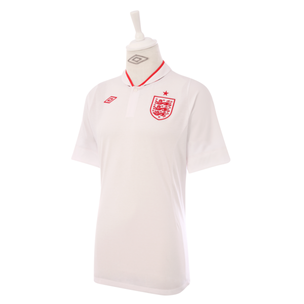 Flying the flag for England: Umbro reveals new white and red England Home kit