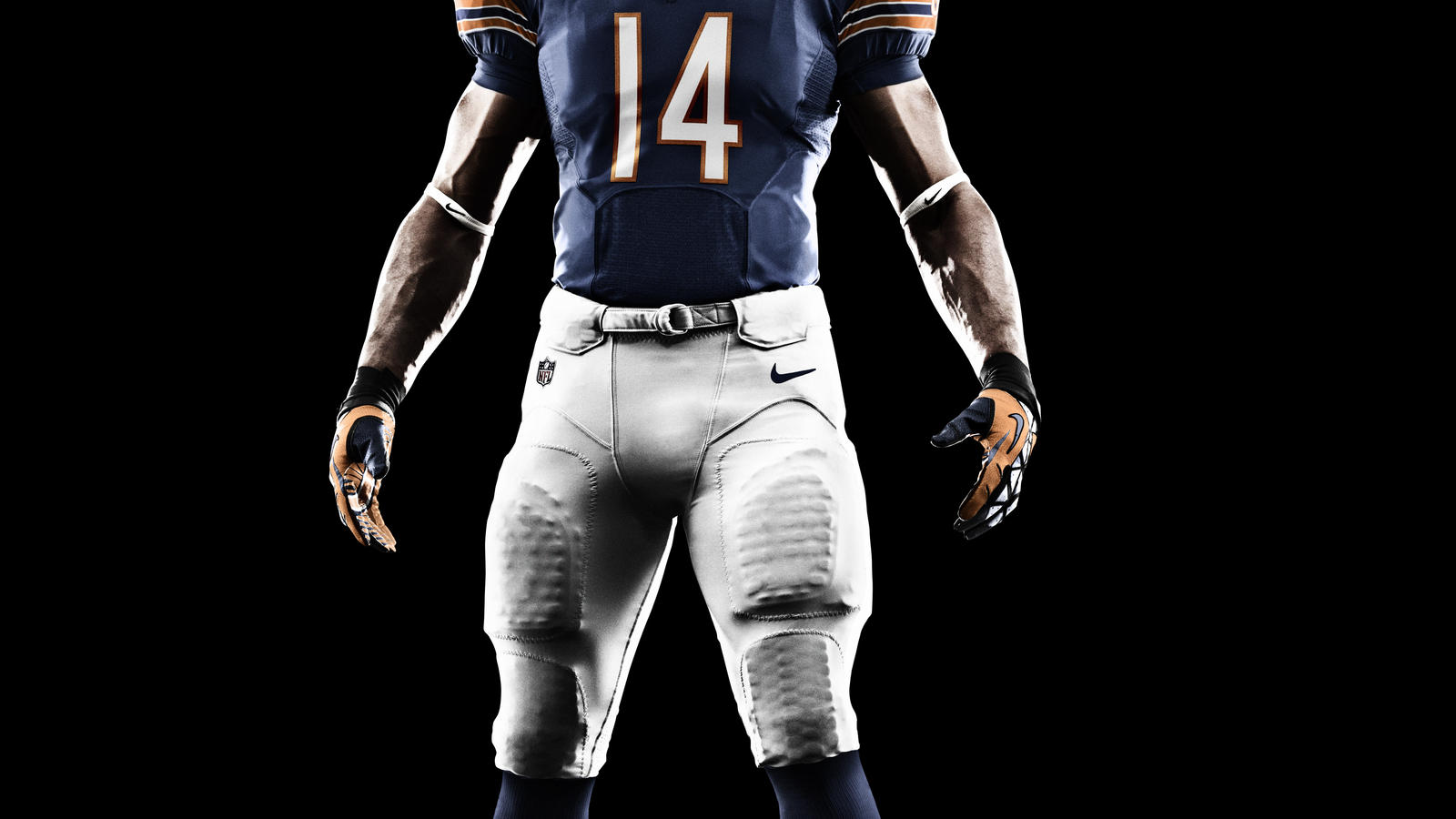 Nike Bears #15 Brandon Marshall Orange Alternate With Hall of Fame 50th Patch Men's Stitched NFL Elite Jersey