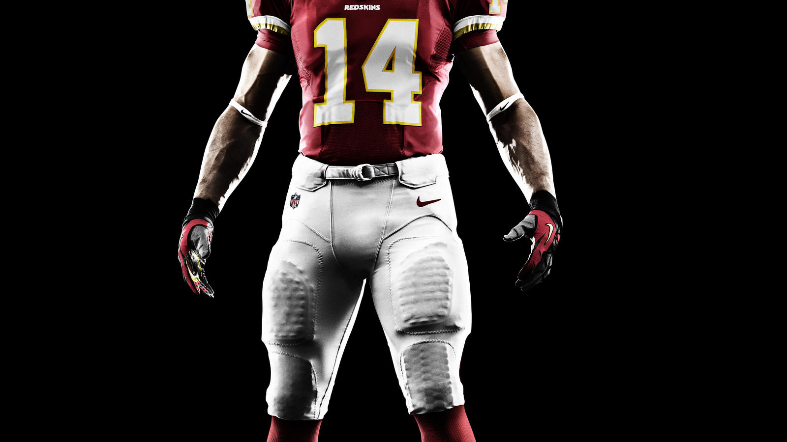 Nike Redskins #81 Art Monk Black Men's Embroidered NFL Impact ...