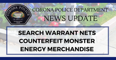 search warrant nets counterfeit monster energy merchandise from