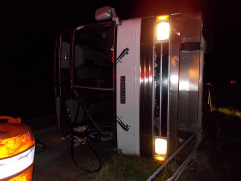 Bus Roll Over on I-65