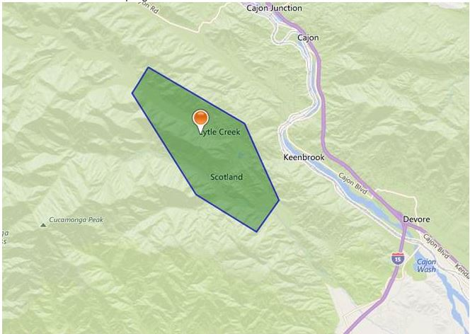 Cajon Pass Fire Map.Blue Cut Fire In Cajon Pass Explodes To 18 000 Acres 0 Percent