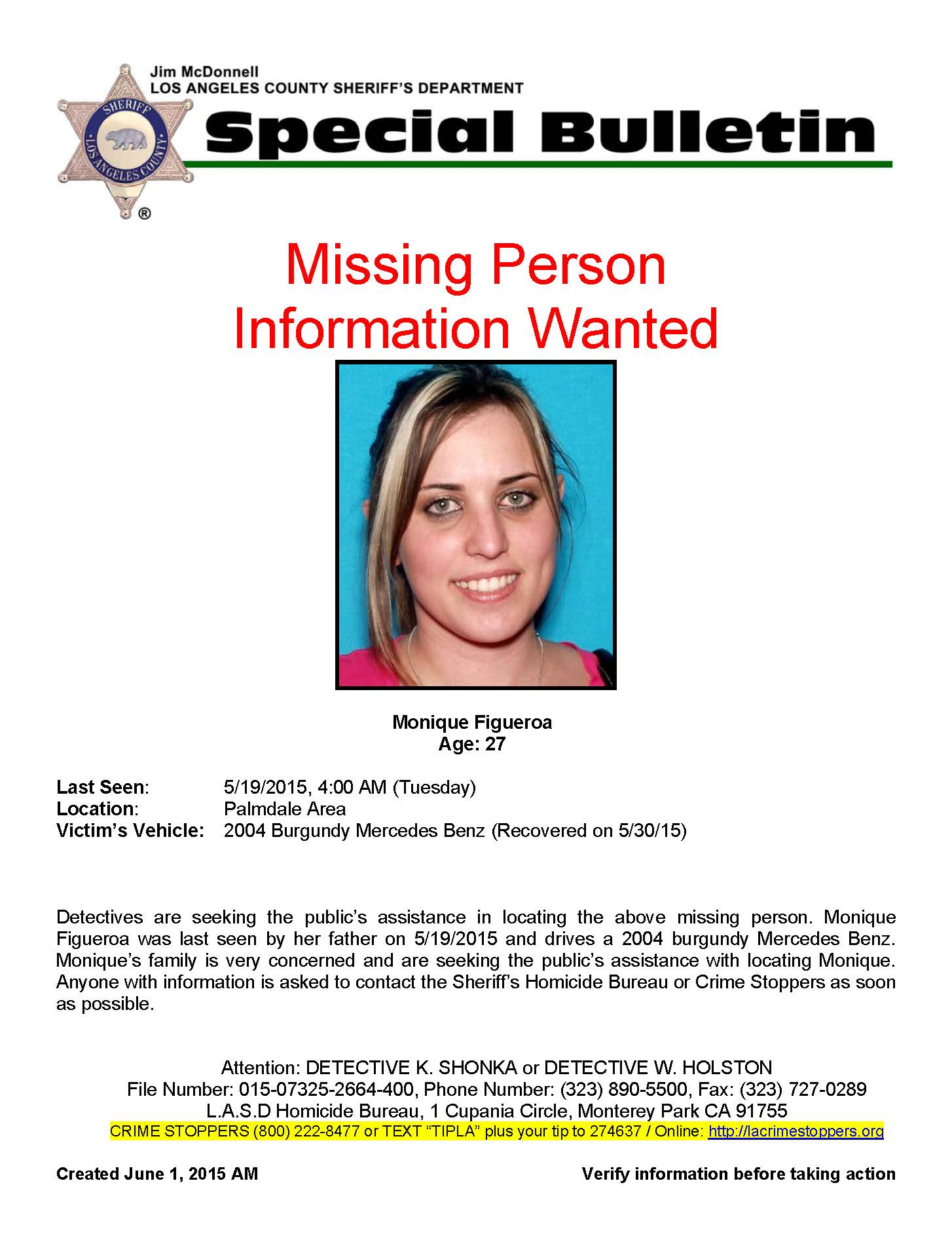 Alert Photo  Missing Person Flyer