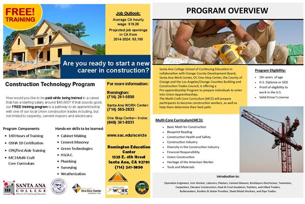 Free training in construction technology program available with alert photo alert photo malvernweather Choice Image