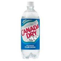 CANADA DRY CLUB SODA 1 LTR - 12/PK