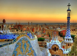 Park guell view barcelona