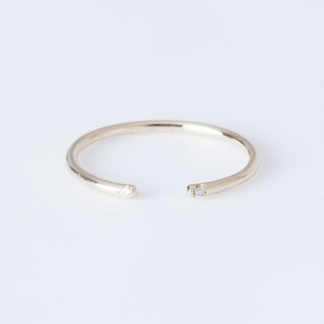 White Pearl Open Cuff Ring