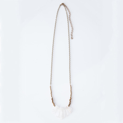 Marisa Haskell La Paz Crystal Necklace