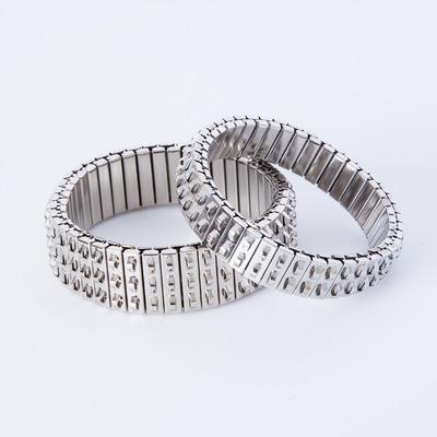 Lady Grey Banded Bracelets Silver
