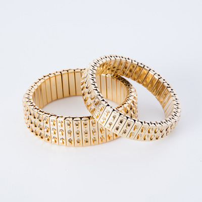 Lady Grey Banded Bracelets Gold