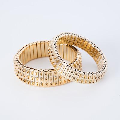 Lady Grey Banded Bracelets Gold