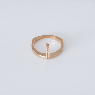 Bliss Lau White Diamond Gold Vermeil Flame Ring