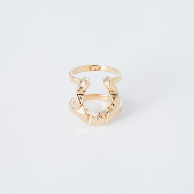 TOMTOM 18K Gold Plated Edged Horseshoe Ring