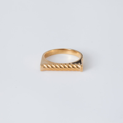 TOMTOM 18K Gold Plated Roped Down Ring