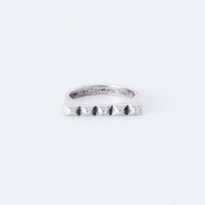 TOMTOM Studder Stack Ring Oxidized Silver Plated