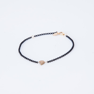 Gabriela Artigas Diamond Stud Black Chain Bracelet