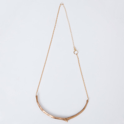 Marisa Haskell Rose Bronze Tigris Necklace