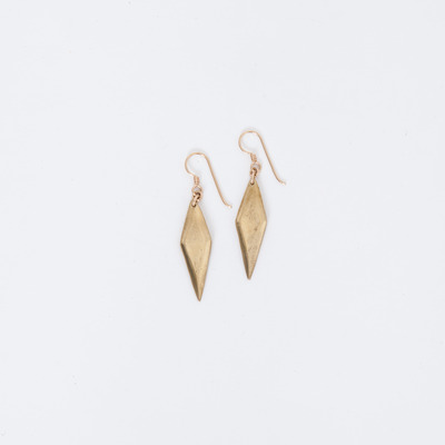 Marisa Haskell Brass Aurora Earrings