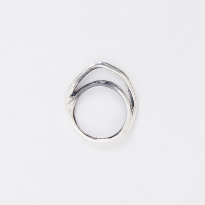 Puro Iosselliani Silver Double Arc Ring