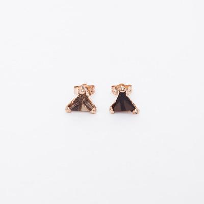 Unearthen Rose Gold Vermeil Prism Studs