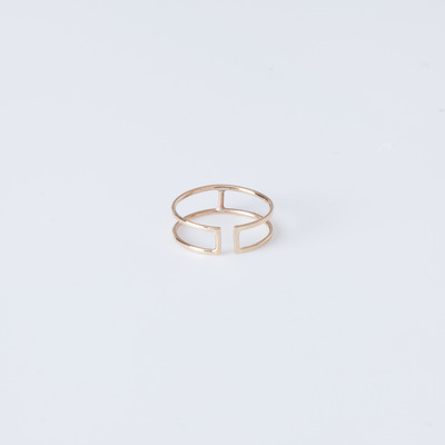 Vale 14K Open Wire Rectangle Ring