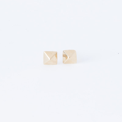 Gabriela Artigas Pyramid Earrings 14K Gold