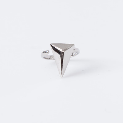 "Joomi Lim Rhodium ""Romantic Armor"" Midi Pyramid Ring"