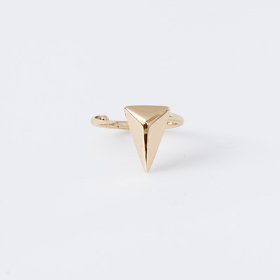 "Joomi Lim Gold ""Romantic Armor"" Midi Pyramid Ring"