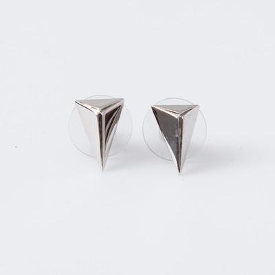 "Joomi Lim Rhodium ""Romantic Armor"" Pyramid Studs"