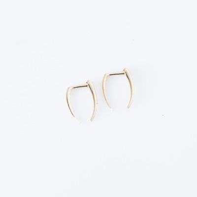 Gabriela Artigas 14K Gold Infinite Tusk Earring