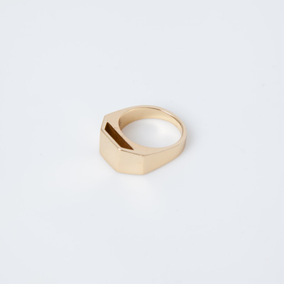 Gabriela Artigas Gold Cut Out Pedestal Ring