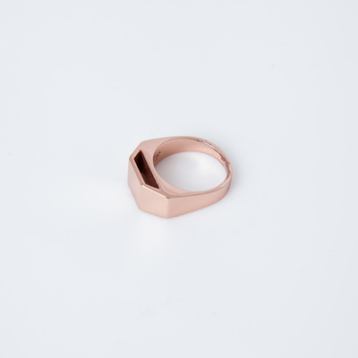 Gabriela Artigas Rose Gold Cut Out Pedestal Ring