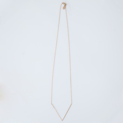 Gabriela Artigas 10k Simple V Teardrop Necklace